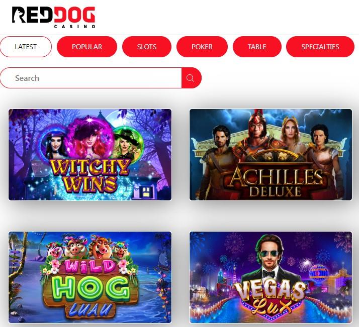 Red Dog Casino Slot Machines