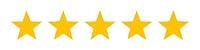 5 Star Reviews - 5 Gold Stars