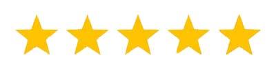 5 Star Reviews - Gold Stars