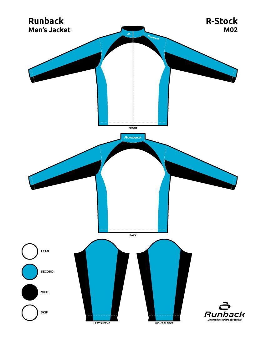 Runback Curling Jacket Stock Design M02