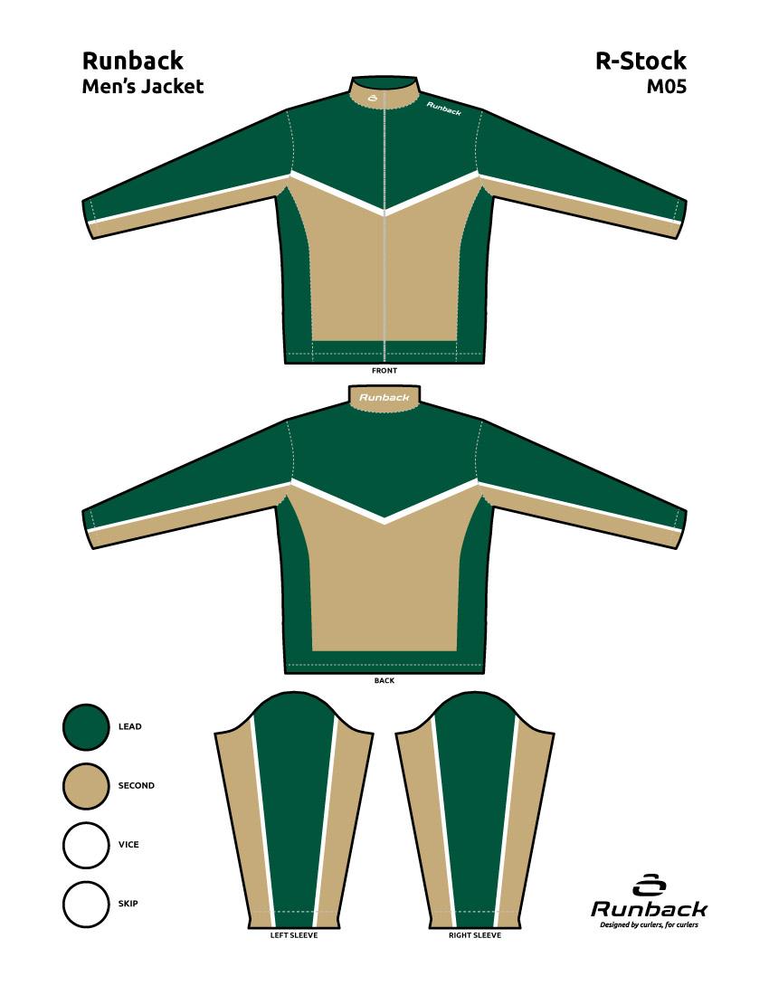 Runback Curling Jacket Stock Design M05