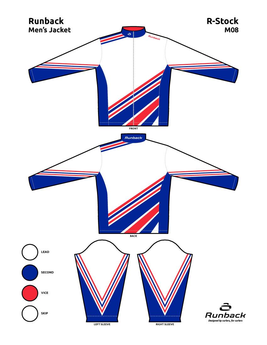 Runback Curling Jacket Stock Design M08