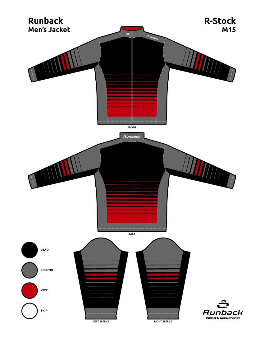 Runback Curling Jacket Stock Design M15