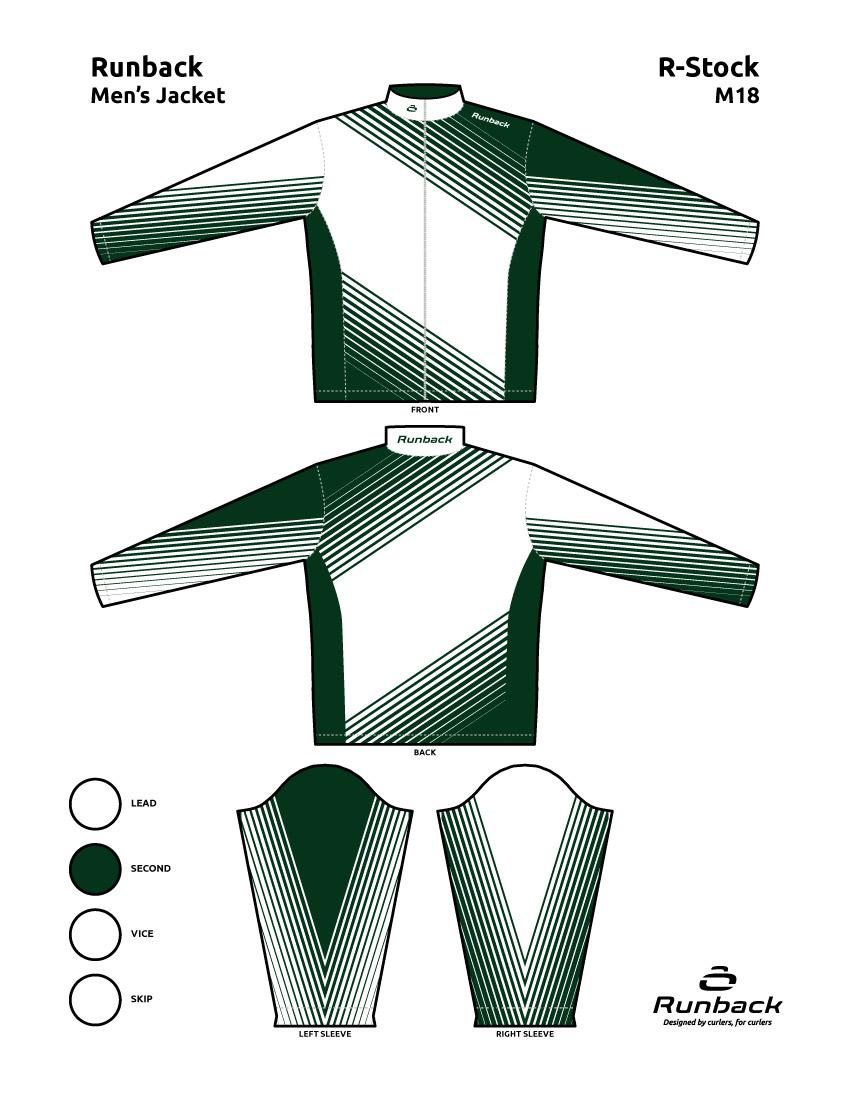 Runback Curling Jacket Stock Design M18