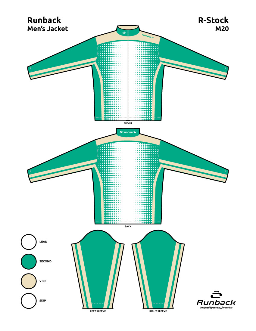 Runback Curling Jacket Stock Design M20
