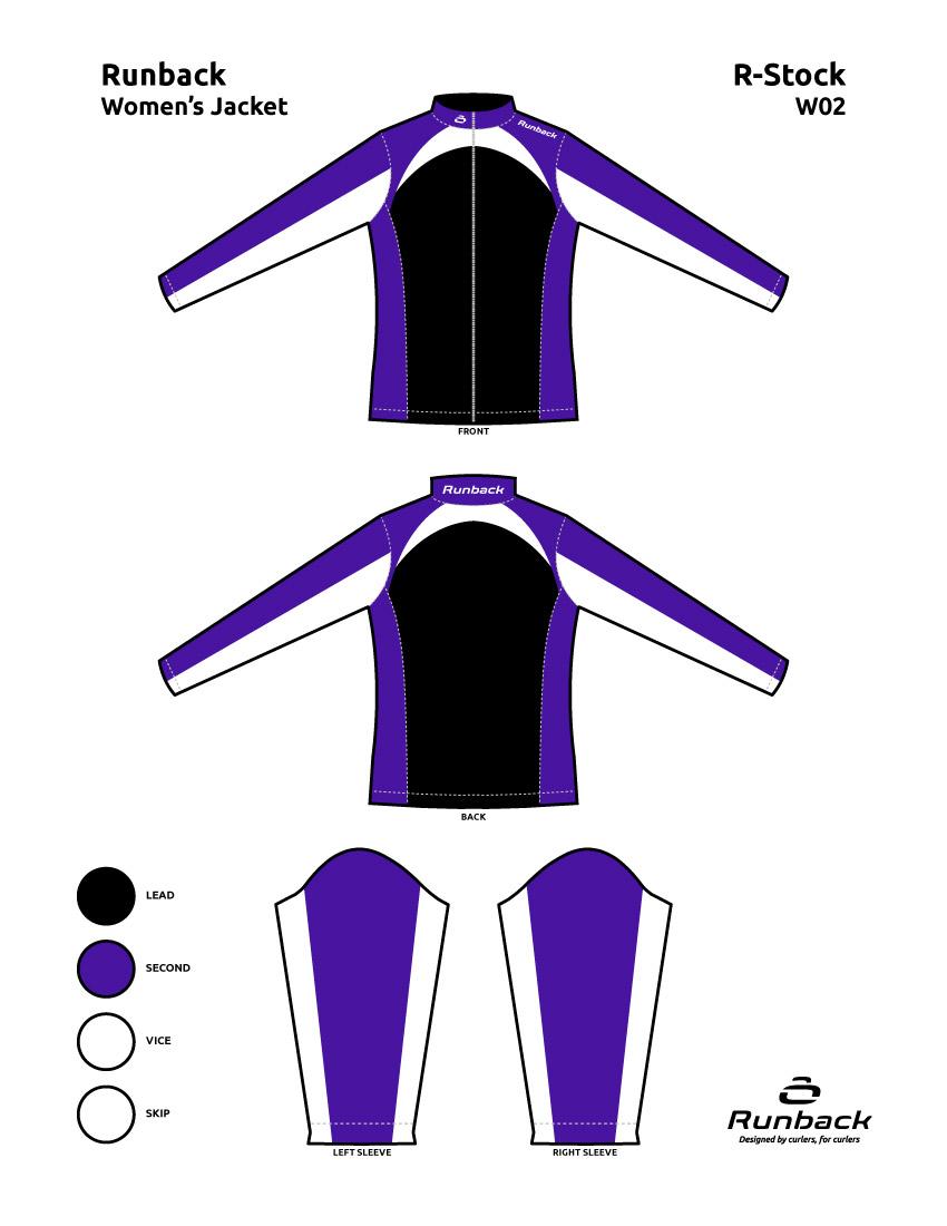 Runback Curling Jacket Stock Design W02