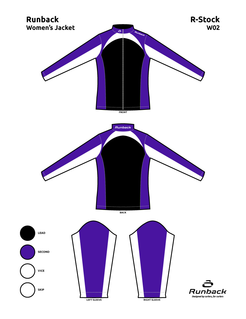 Runback Curling Jacket Stock Design W02