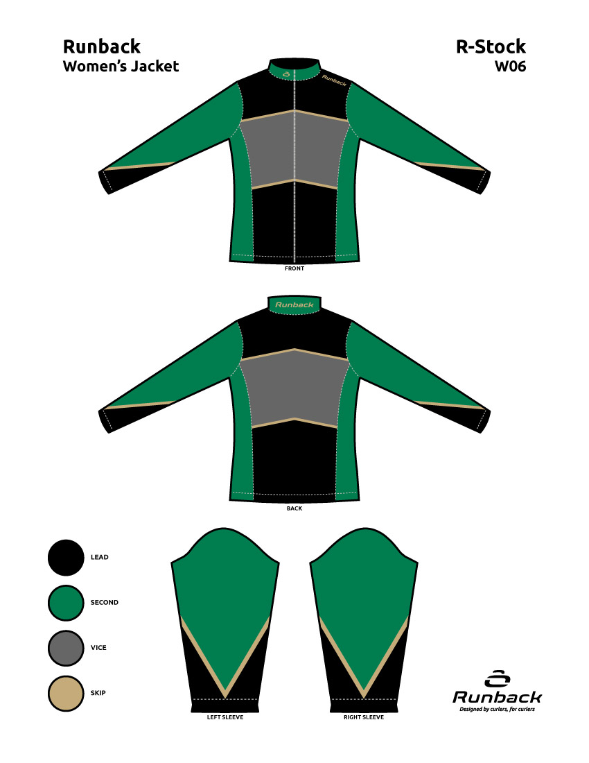 Runback Curling Jacket Stock Design W06