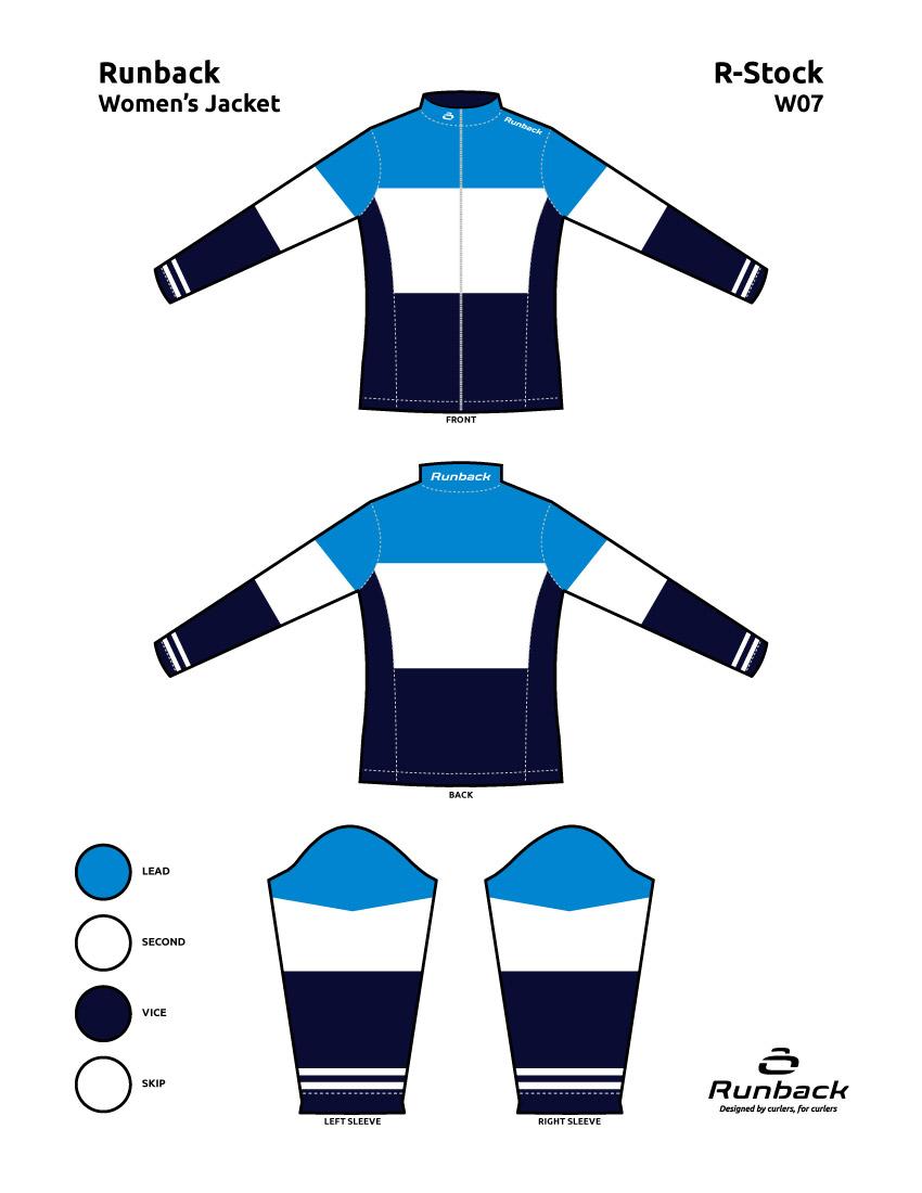 Runback Curling Jacket Stock Design W07