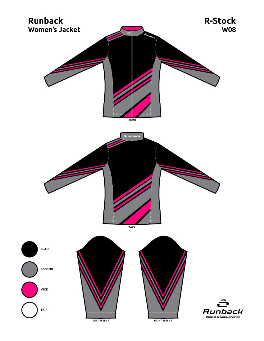 Runback Curling Jacket Stock Design W08