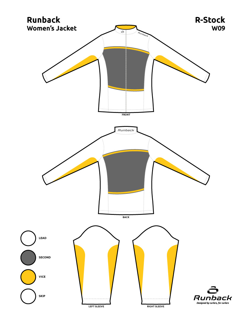 Runback Curling Jacket Stock Design W09