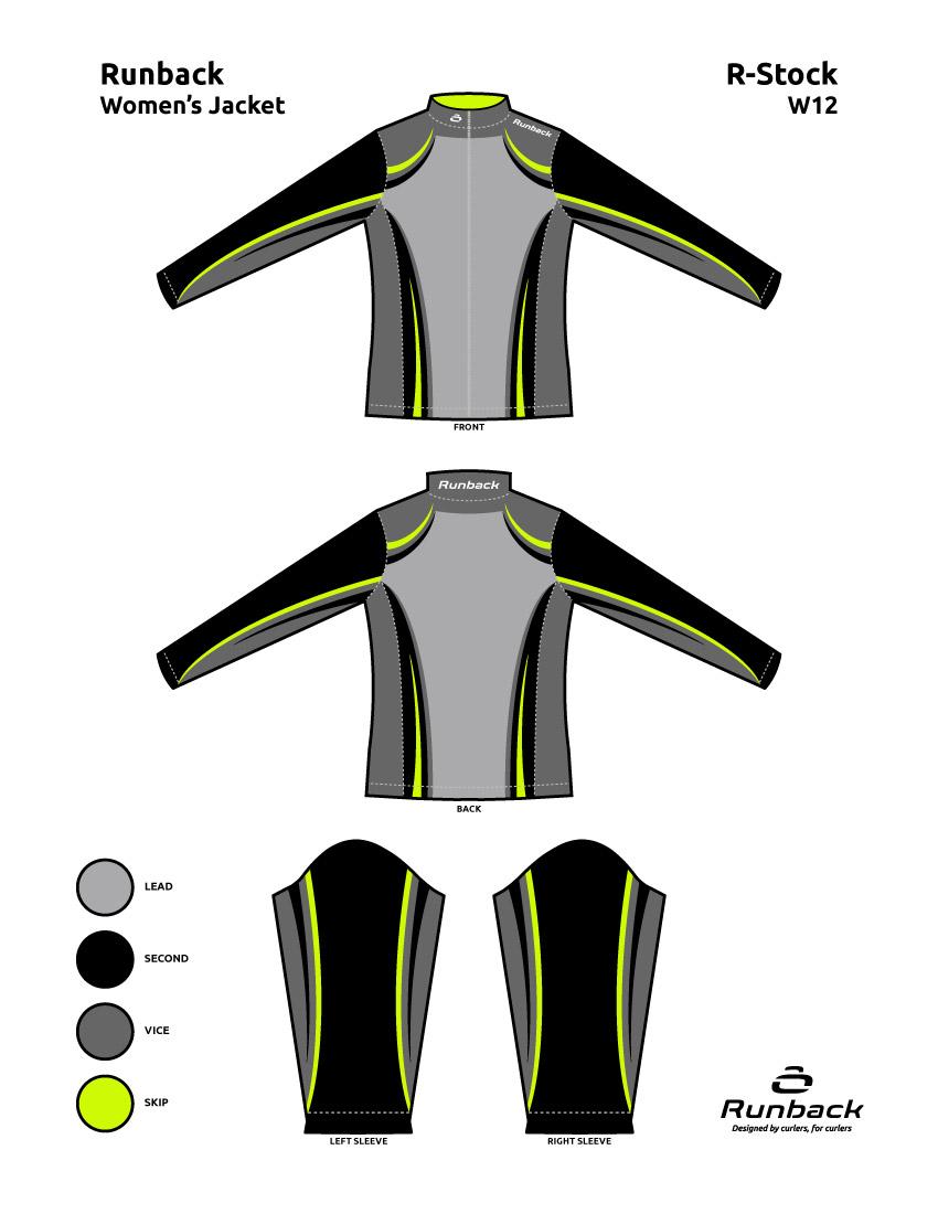 Runback Curling Jacket Stock Design W12