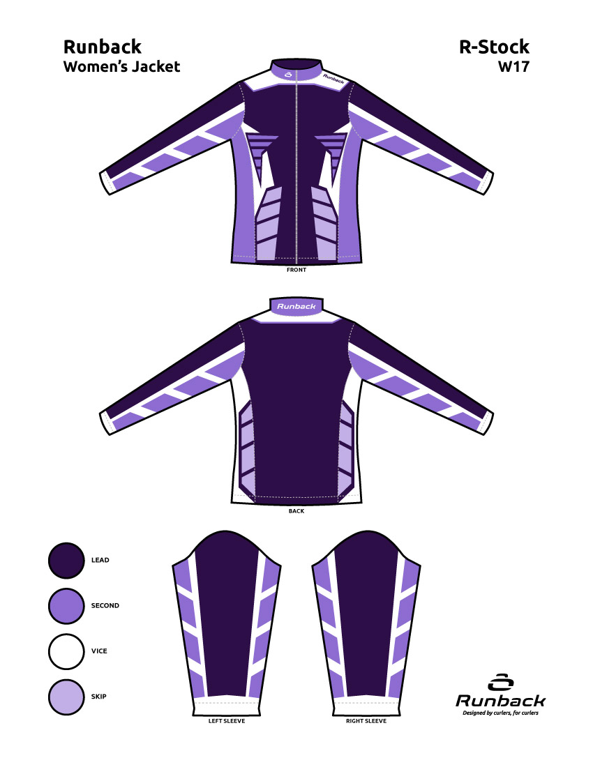Runback Curling Jacket Stock Design W17