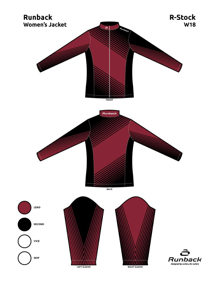 Runback Curling Jacket Stock Design W18