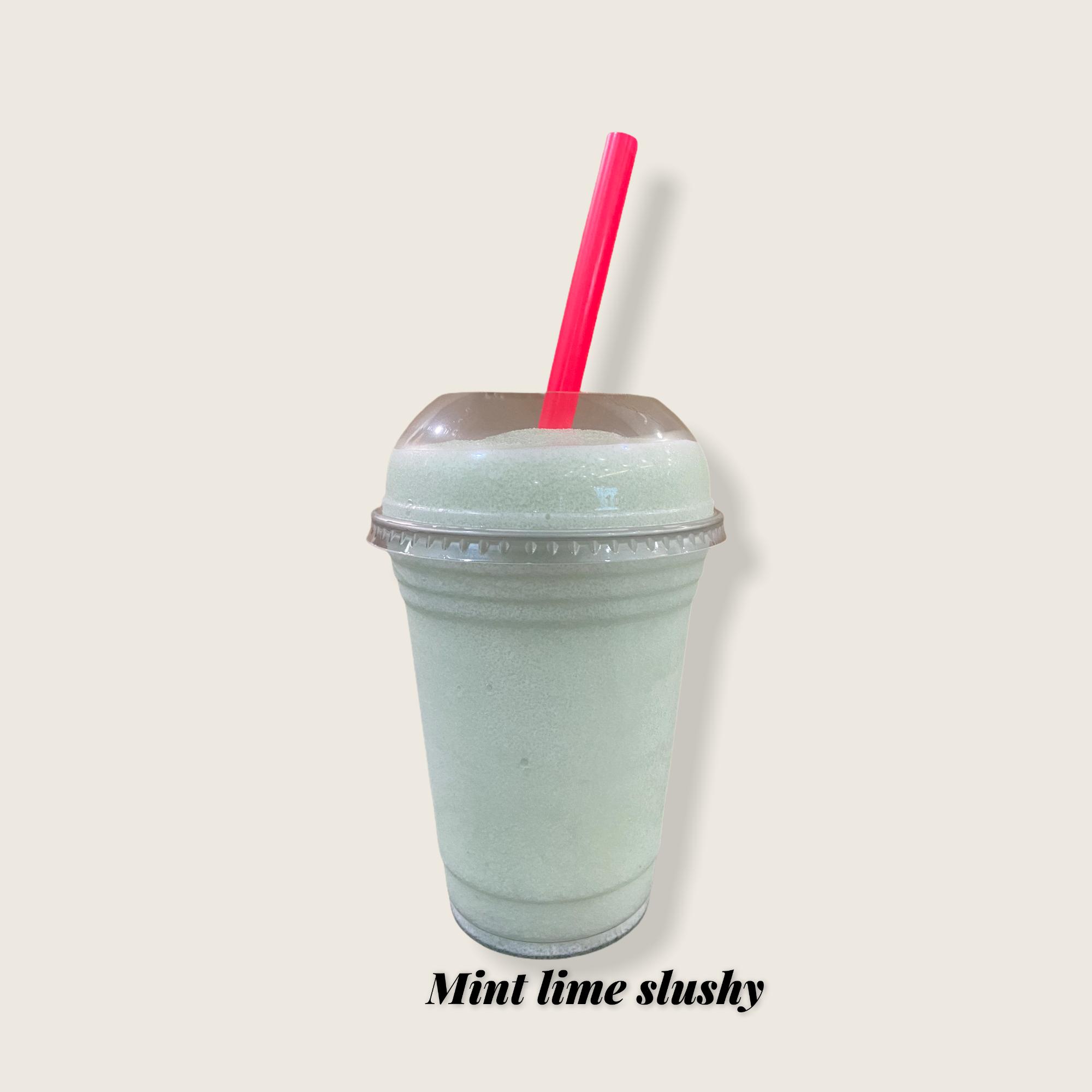 Mint lime slushy