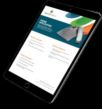 brochure phone integration