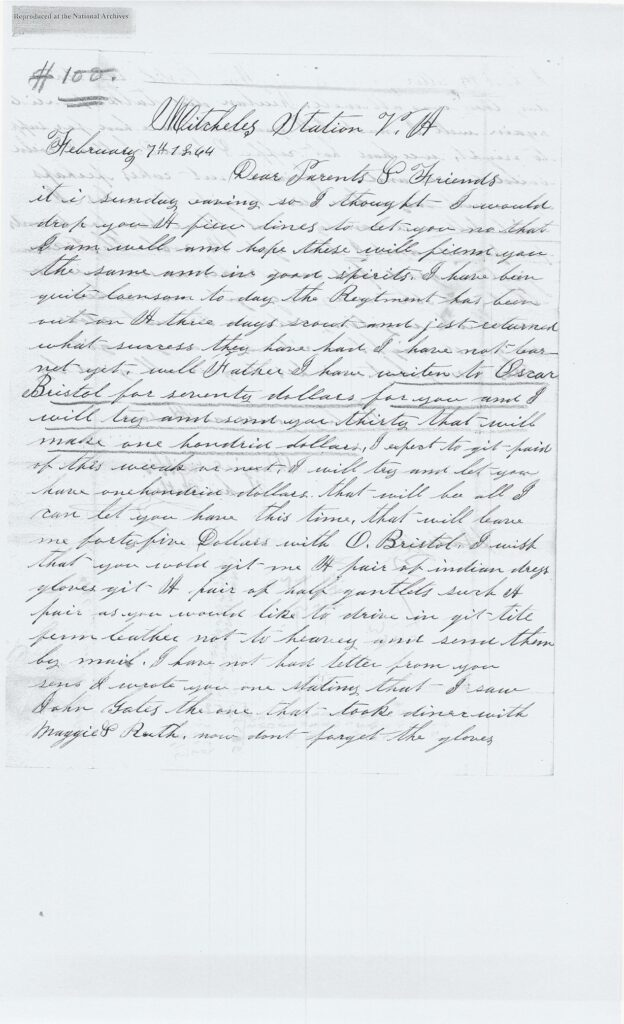 Image of a two page letter from Daniel Griffis