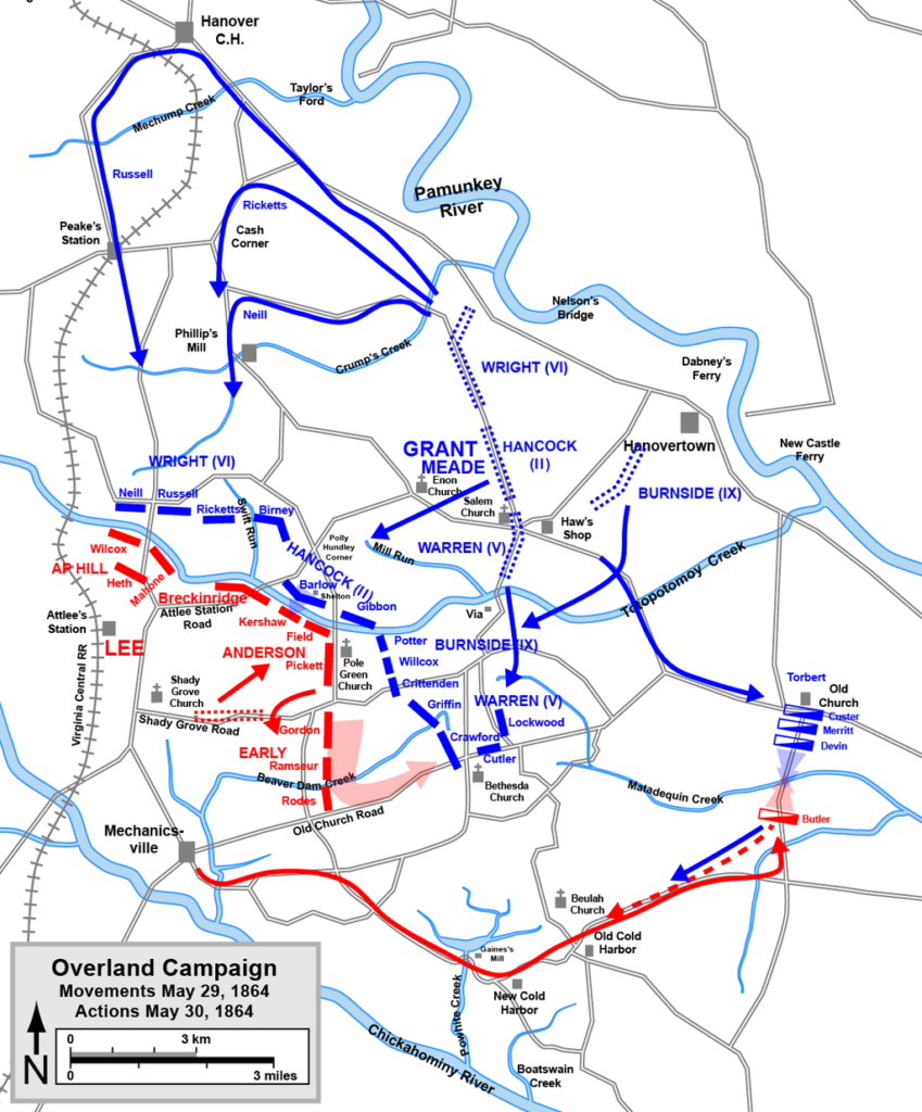 Overland Campaign May 29-30 1864