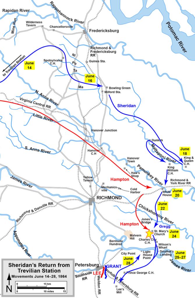 Sheridan' s Trevilian Station Raid return