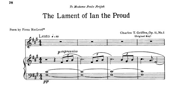 James T Griffes Music Score