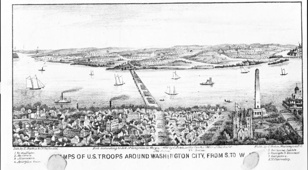 Camps of U.S. Troops Around Washington