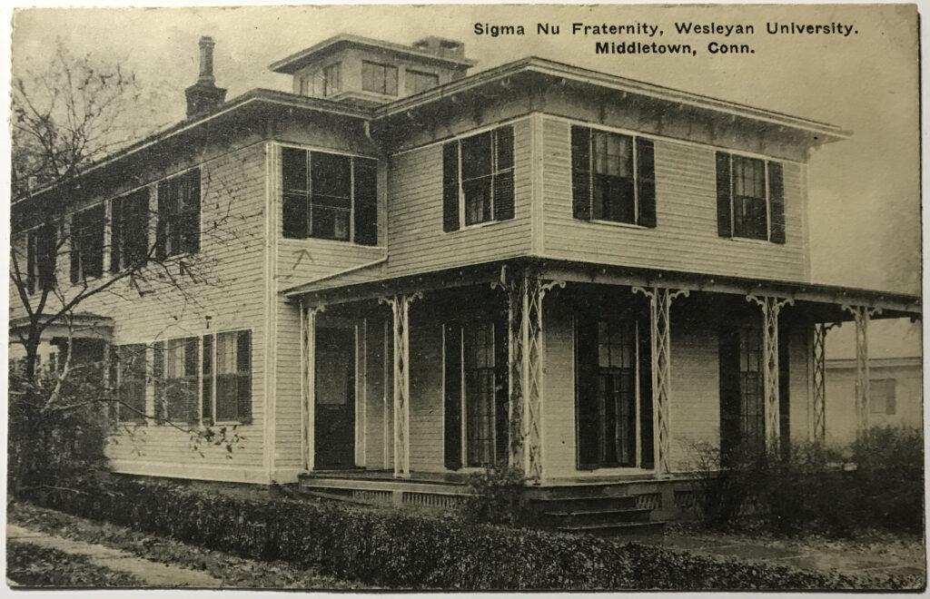 Post Card of Sigma Nu Wesleyan University 1923