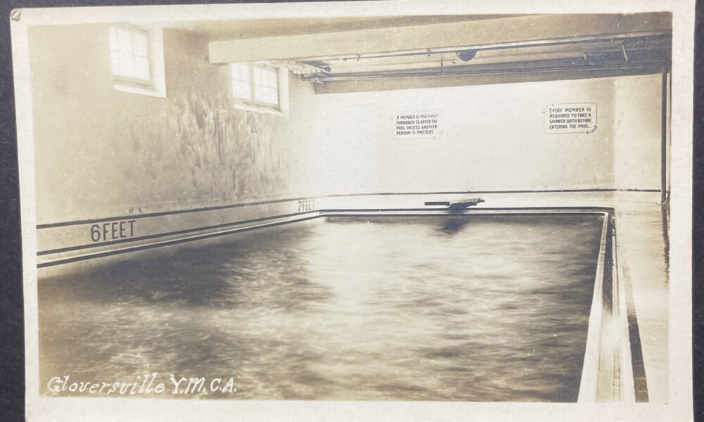Gloversville YMCA Postcard Swimming Pool 1920s