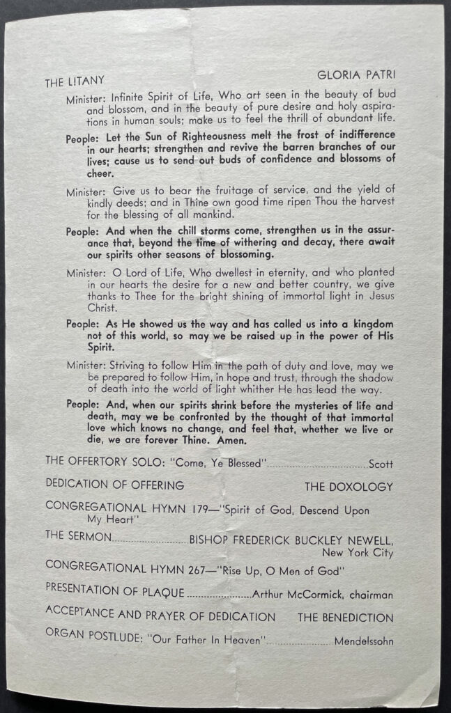 Harold Griffis Memorial Service Page Three