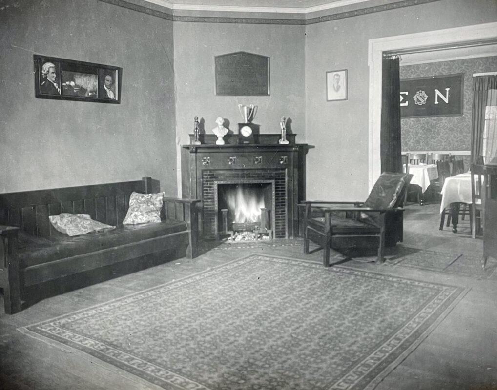 Sigma Nu Fireplace 1922