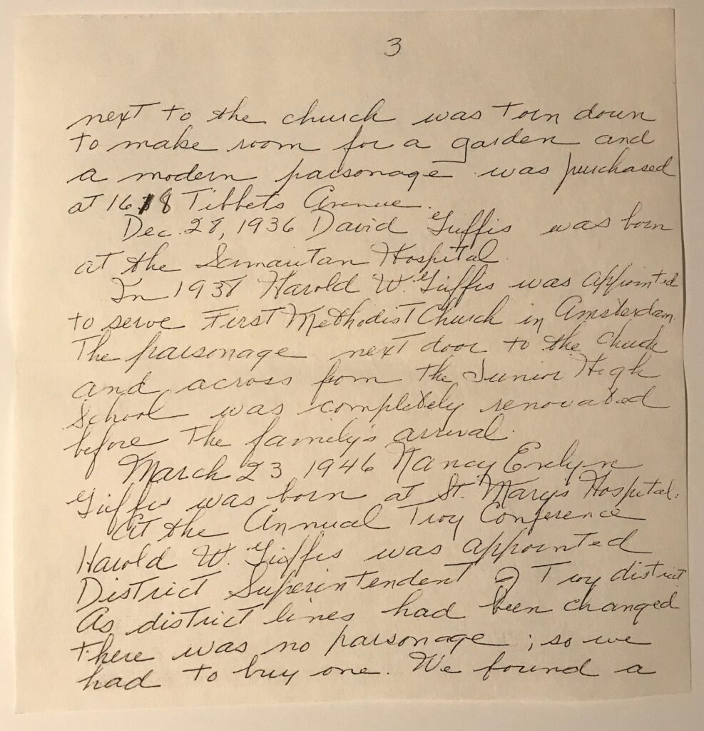 Handwritten letter by Evelyn Griffis on ancestry information for Dutcher Family