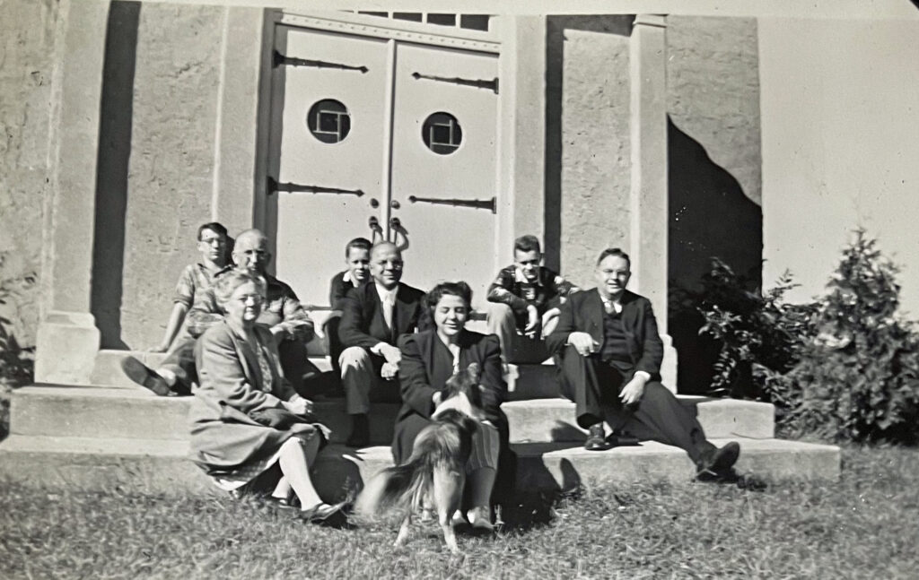Harold Griffis with James D Griffis and John H Griffis circa 1946