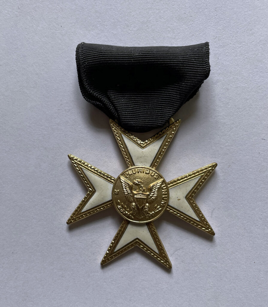 """American Freemasons """"Knights of Malta"""" cross. This was a Knights templar lodge medal typically from the 1930s-50s."""