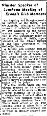 Eloquent speaker The Glens Falls Times January 12 1955 Page 14