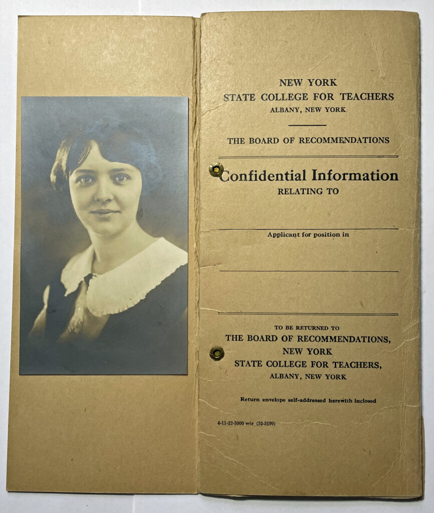 Evelyn Griffis Board of Recommendations photo and cover