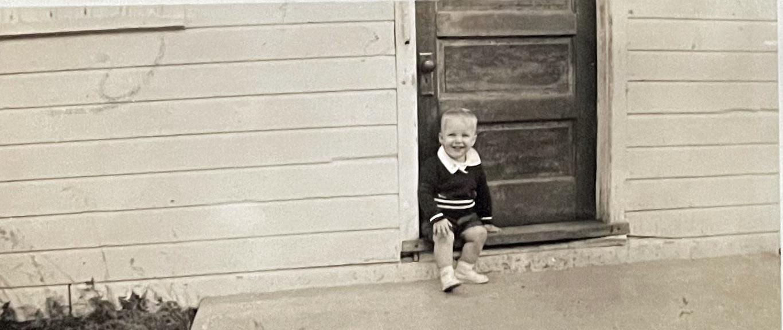 David at the School Door August 1938
