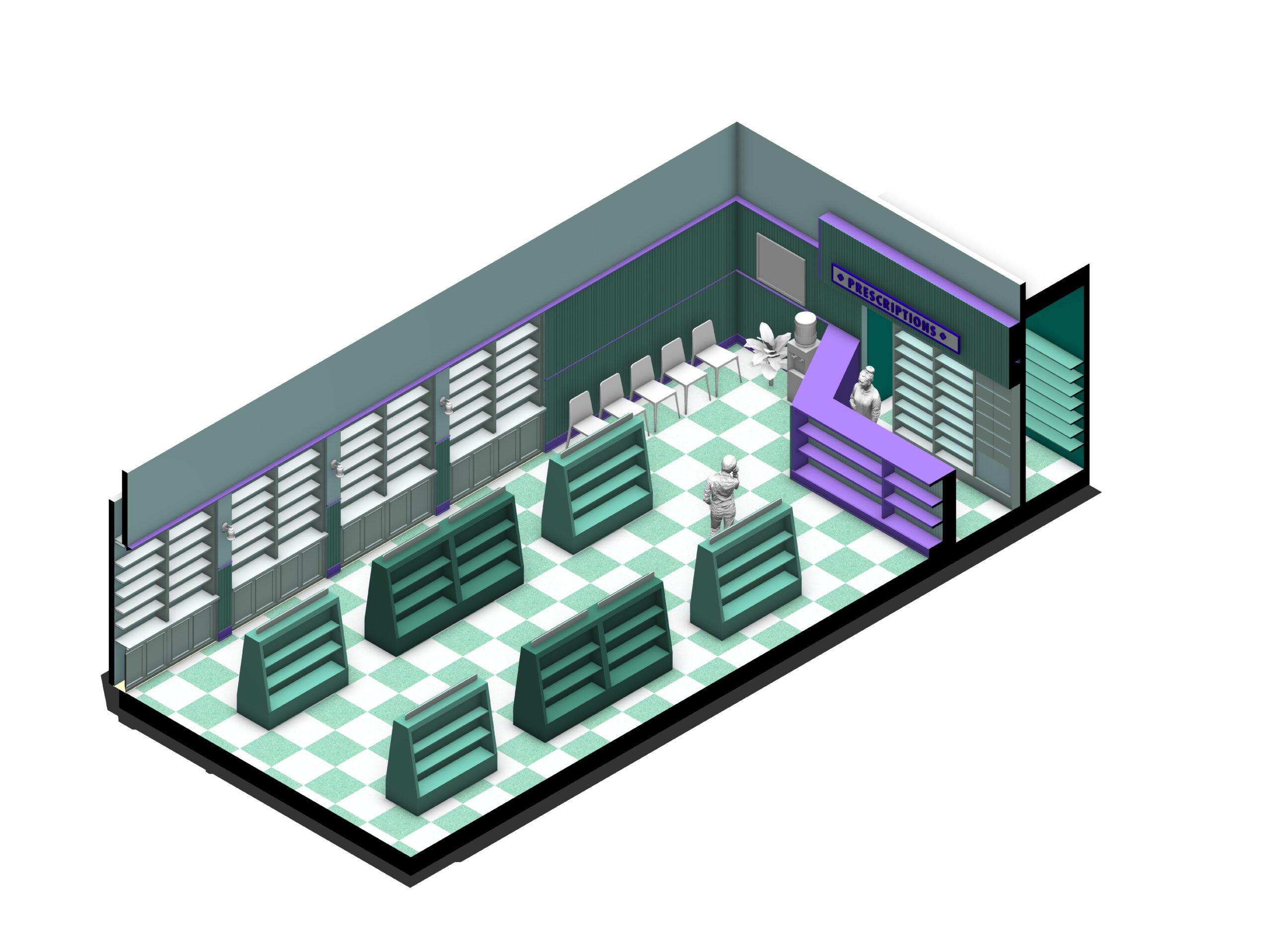 cutaway rendering