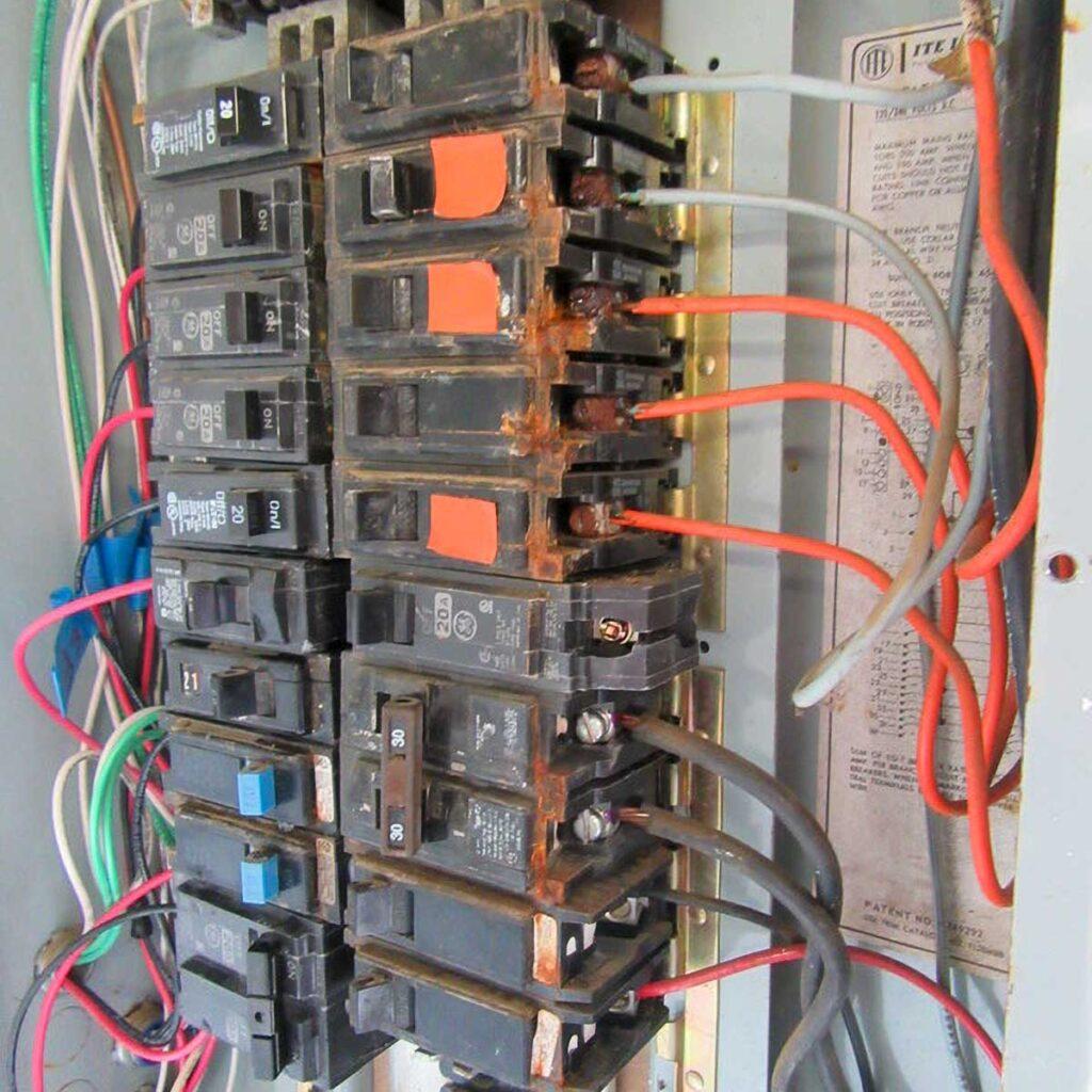 water damaged circuit breaker repair