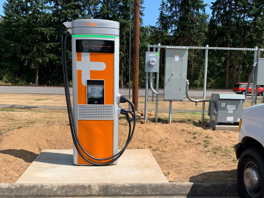 CRPUD electric car charging station installation
