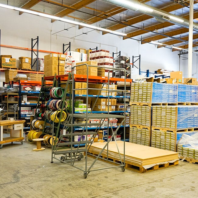 High Volume - Warehouse filled with many products