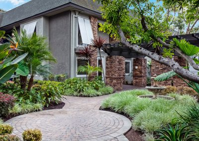 Beachwood front view with garden