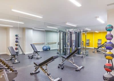 gym area with equipments
