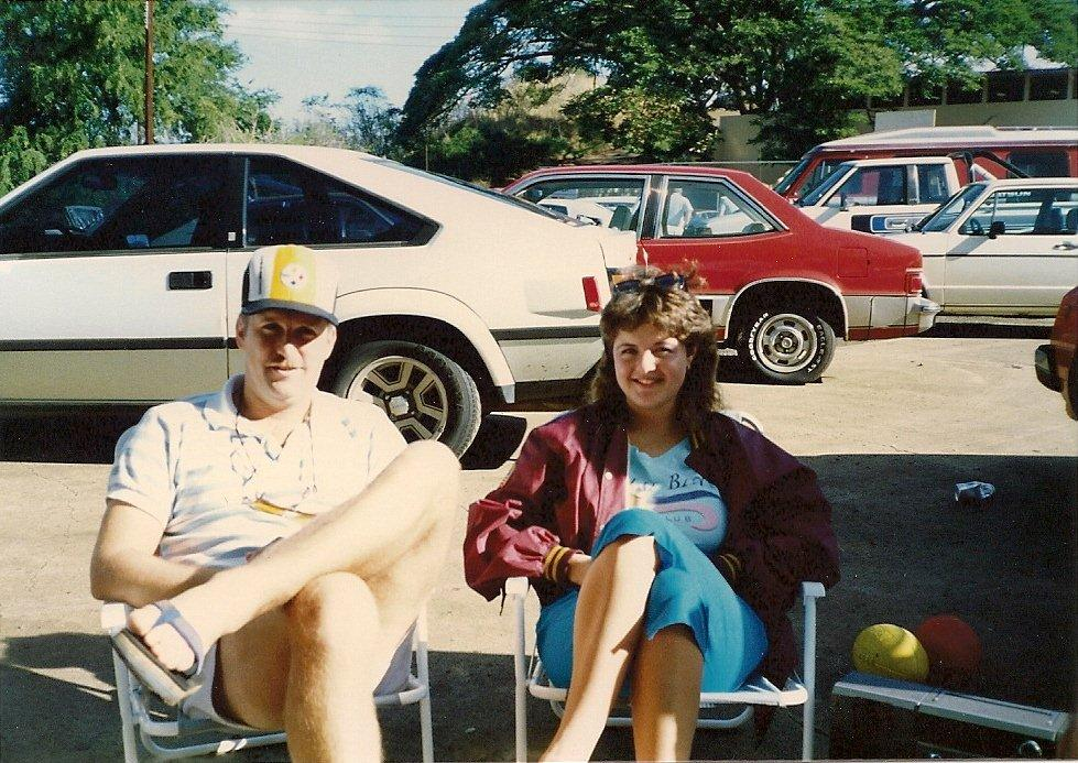 This image has an empty alt attribute; its file name is pro_bowl_tailgate_party_1987_doug_and_barbara_arnold.jpg