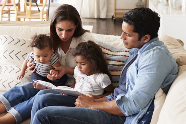 Comfortable Family Inside Home