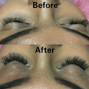 eyelash extensions before and after - fantastic