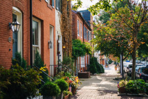 Baltimore style street view