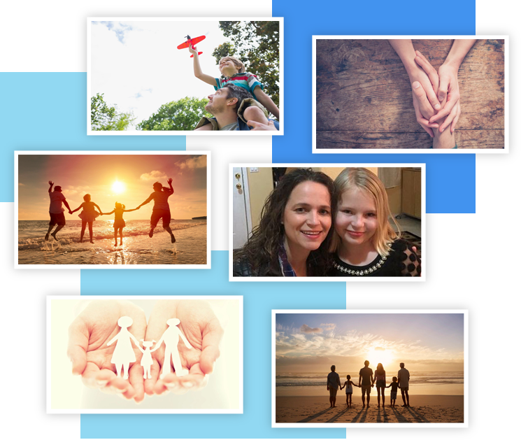 Happy smiles and collage images of Out Of The Box Solutions