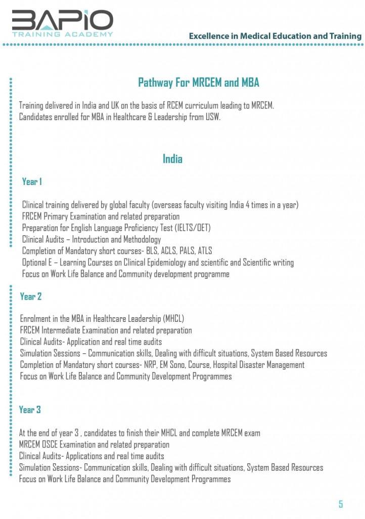 Kingsway Hospitals - Membership Of Royal College Of Emergency Medicine (MRCEM)