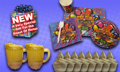 Super Skater birthday party package contents