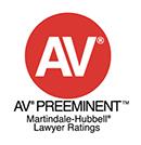 AV Preeminent Martingdale-Hubbell Lawyer Ratings