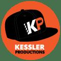 Kessler Productions Logo baseball cap KP film slate video camera